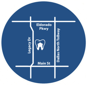 West Frisco Dental Location Map